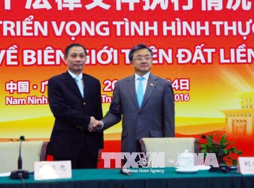 Vietnam y China buscan mejorar el despliegue de acuerdos de gestión fronteriza - ảnh 1