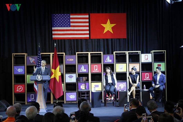 Elogia presidente Barack Obama papel de empresarios jóvenes en desarrollo de Vietnam - ảnh 1