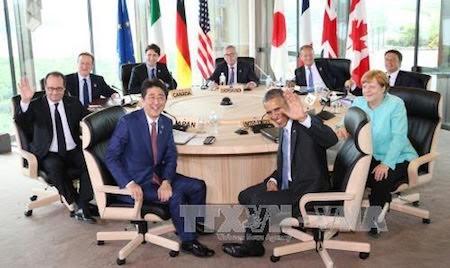 Líderes del G7 logran consenso sobre medidas financieras para el crecimiento global  - ảnh 1
