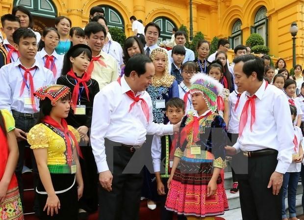 Presidente de Vietnam alaba esfuerzos de infantes con dificultades  - ảnh 1