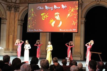 Vietnamitas en Francia dan bienvenida al Año Nuevo Lunar del Gallo - ảnh 1