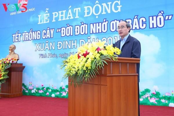 Presidente del Frente de la Patria exhorta a intensificar el movimiento de  protección forestal   - ảnh 1