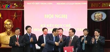 Organismos partidistas firman acuerdo de cooperación conjunta  - ảnh 1