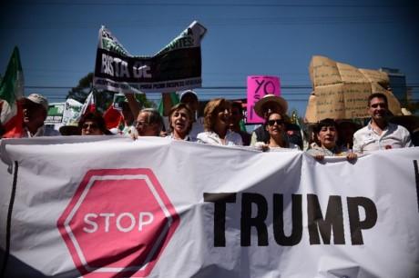 Mexicanos protestan contra la construcción del muro de Donald Trump  - ảnh 1