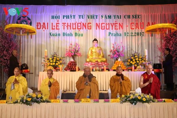 Vietnamitas en República Checa participan en ceremonia budista del inicio del año lunar - ảnh 1