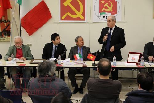 Partido Comunista Italiano elogia logros de la revolución vietnamita - ảnh 1