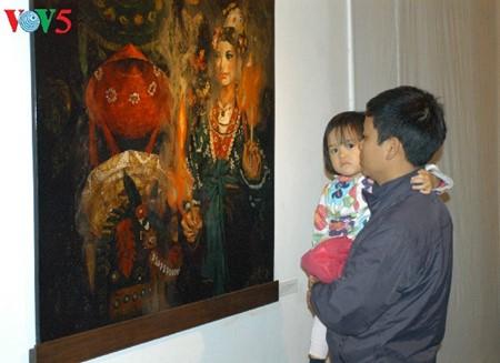 Culto a las Diosas Madres reflejado en pinturas de laca de Tran Tuan Long - ảnh 2