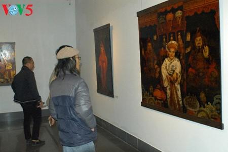 Culto a las Diosas Madres reflejado en pinturas de laca de Tran Tuan Long - ảnh 3