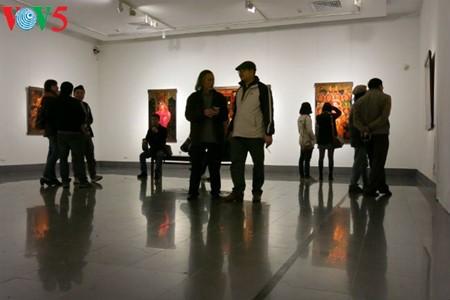 Culto a las Diosas Madres reflejado en pinturas de laca de Tran Tuan Long - ảnh 5