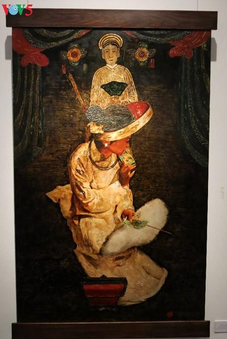 Culto a las Diosas Madres reflejado en pinturas de laca de Tran Tuan Long - ảnh 7