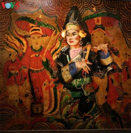 Culto a las Diosas Madres reflejado en pinturas de laca de Tran Tuan Long - ảnh 9