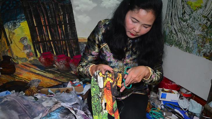Tran Thanh Thuc y su amor por las pinturas de tela - ảnh 2