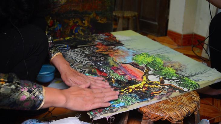 Tran Thanh Thuc y su amor por las pinturas de tela - ảnh 3