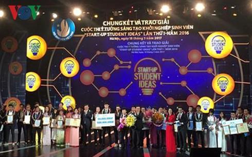 Premian proyectos destacados de emprendimiento estudiantil 2016 - ảnh 1