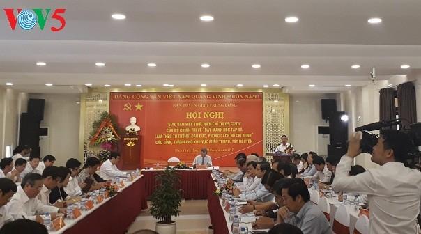 Localidades centrales de Vietnam apuestan por seguir las enseñanzas de Ho Chi Minh - ảnh 1