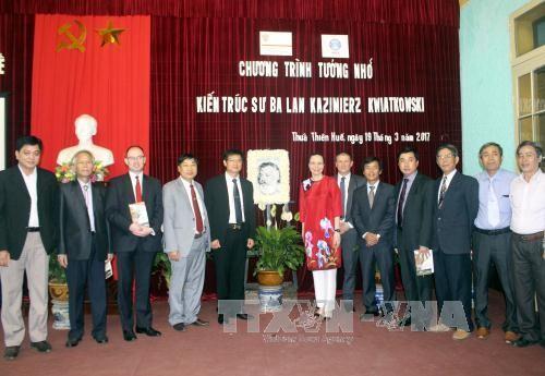 Recuerdan en Vietnam aportes de arquitecto polaco en preservación de patrimonios - ảnh 1