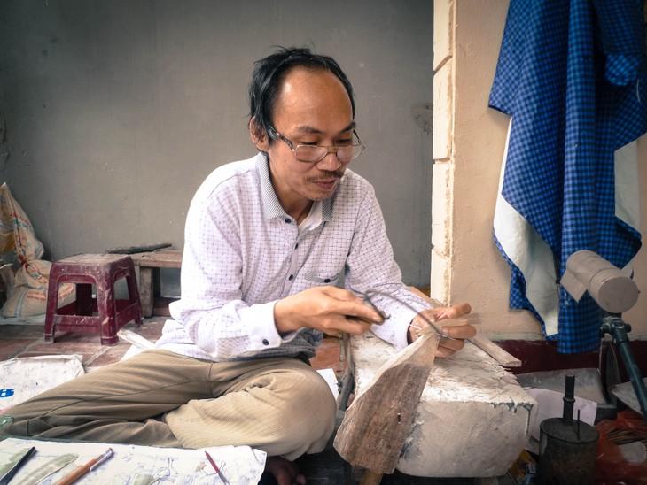 Colores brillantes de los productos de mosaico de la aldea de Chuon Ngo - ảnh 2