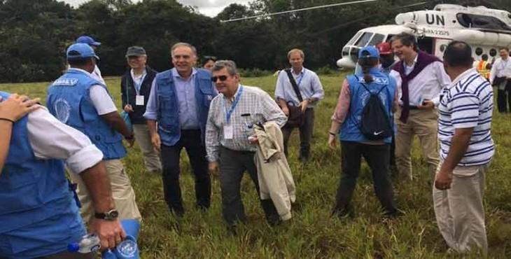 Representantes de la ONU visitan zona transitoria para guerrilla colombiana  - ảnh 1