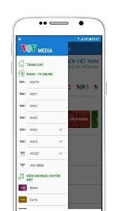 Aplicación VOV Media para escuchar la Voz de Vietnam en teléfonos inteligentes y tabletas - ảnh 1