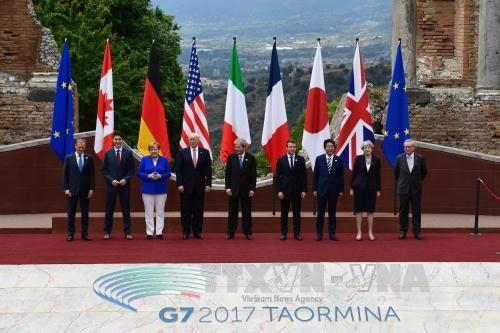 G7 aprueba declaración conjunta sobre temas mundiales - ảnh 1