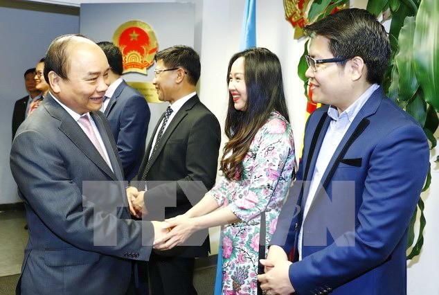 Visita del premier vietnamita a Estados Unidos atrae medios y expertos internacionales  - ảnh 1