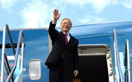 Líder partidista de Vietnam inicia su visita oficial a Camboya - ảnh 1