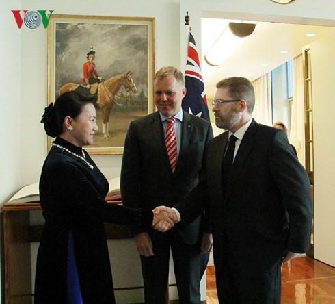 Líderes parlamentarios de Vietnam y Australia dialogan sobre las relaciones binacionales - ảnh 1