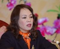 Menteri Kesehatan Nguyen Thi Kim Tien dan Menteri Perencanaan dan Investasi VN Bui Quang Vinh melakukan dialog online - ảnh 1