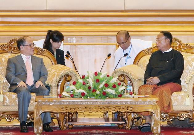 Aktivitas Ketua MN Nguyen Sinh Hung di Myanmar - ảnh 1