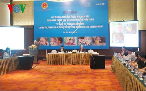 Meningkatkan peranan MN dalam menjamin hak anak-anak dan masalah nutrisi untuk perkembangan - ảnh 1