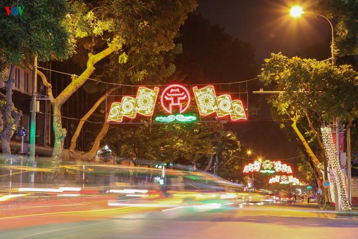 Kota Hanoi merayakan Tahun Baru 2016 dalam suasana meriah - ảnh 6