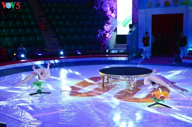 Gala Sirkus Internasional sehubungan dengan peringatan ultah ke-60 Federasi Sirkus Vietnam - ảnh 19