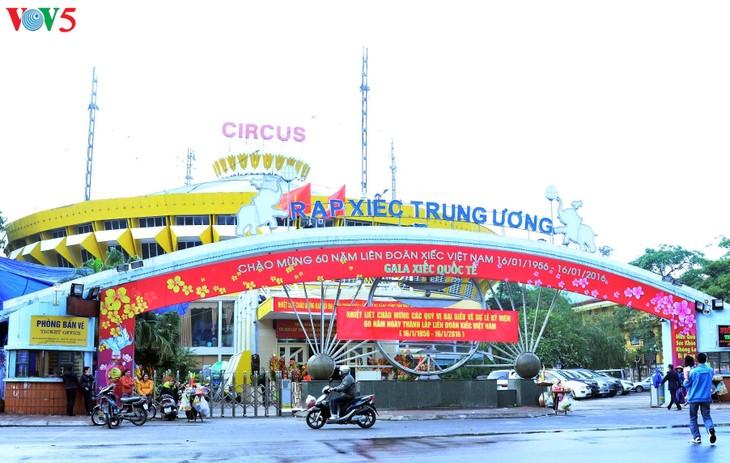 Gala Sirkus Internasional sehubungan dengan peringatan ultah ke-60 Federasi Sirkus Vietnam - ảnh 1