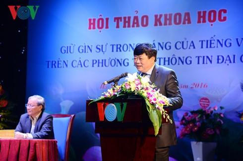 """Mengakhiri lokakarya nasional """"Menjaga kemurnian Bahasa Vietnam di media masa"""" - ảnh 1"""