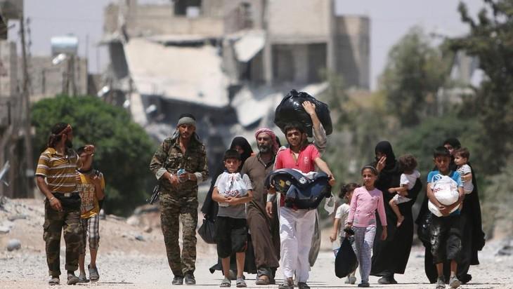 PBB memperingatkan bahaya kehabisan pangan yang diberikan kepada kota Aleppo, Suriah - ảnh 1