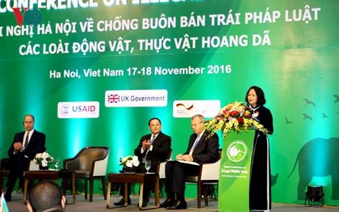 Wapres Dang Thi Ngoc Thinh menghadiri Konferensi internasional tentang pemberantasan perdagangan satwa dan tumbuhan liar - ảnh 1