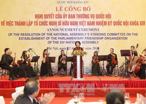 Membentuk Organisasi Legislator persahabatan Vietnam dari MN angkatan XIV - ảnh 1