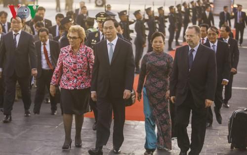 Presiden Tran Dai Quang mengakhiri kunjungan di Italia dan Kuba - ảnh 1