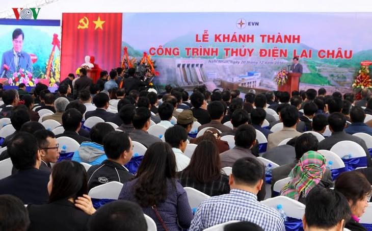 Meresmikan pabrik hydro listrik Lai Chau - ảnh 3