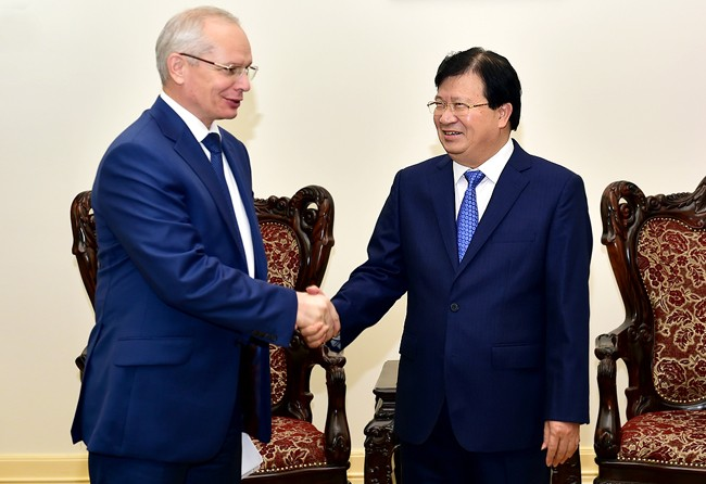 Deputi PM Vietnam, Trinh Dinh Dung menerima PM Pemerintah Republik Bashkortostan (Federasi Rusia) - ảnh 1