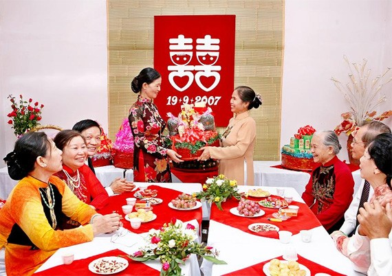 Penjelasan tentang adat istiadat pernikahan di masyarakat Vietnam - ảnh 1