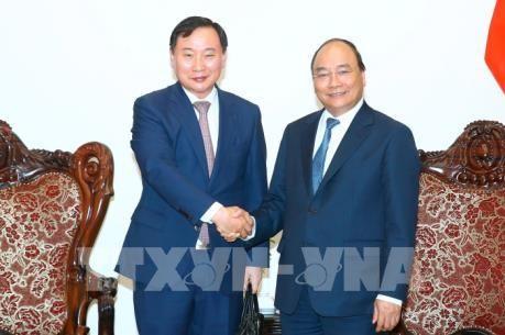 PM Vietnam, Nguyen Xuan Phuc menerima Presiden Grup Hyundai Motor (Republik Korea) - ảnh 1