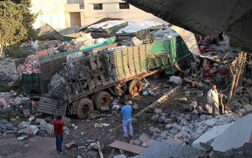 Iringan mobil PBB diserang di Libia  - ảnh 1