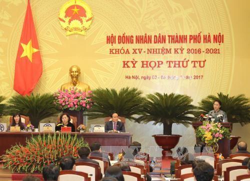 Khai mạc kỳ họp thứ 4 Hội đồng nhân dân thành phố Hà Nội khóa XV - ảnh 1