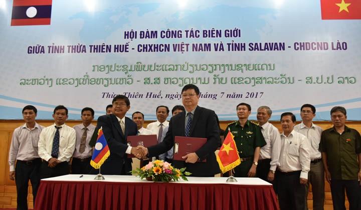 Bekerjasama membangun perbatasan Vietnam-Laos yang damai dan bersahabat - ảnh 1