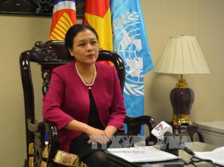 Vietnam menegaskan pendirian mendukung solusi dua negara - ảnh 1