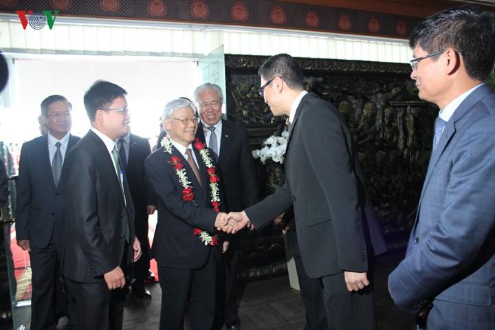 Sekjen KS PKV Nguyen Phu Trong memulai kunjungan resmi di Indonesia - ảnh 4