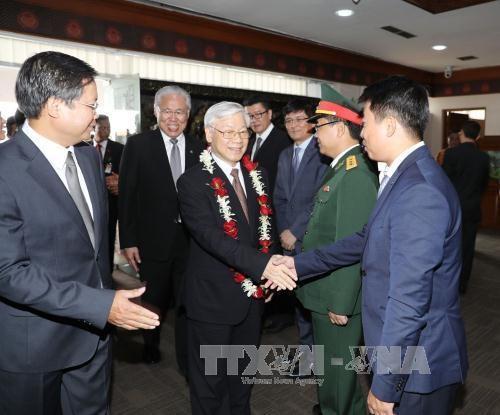 Sekjen KS PKV Nguyen Phu Trong memulai kunjungan resmi di Indonesia - ảnh 6