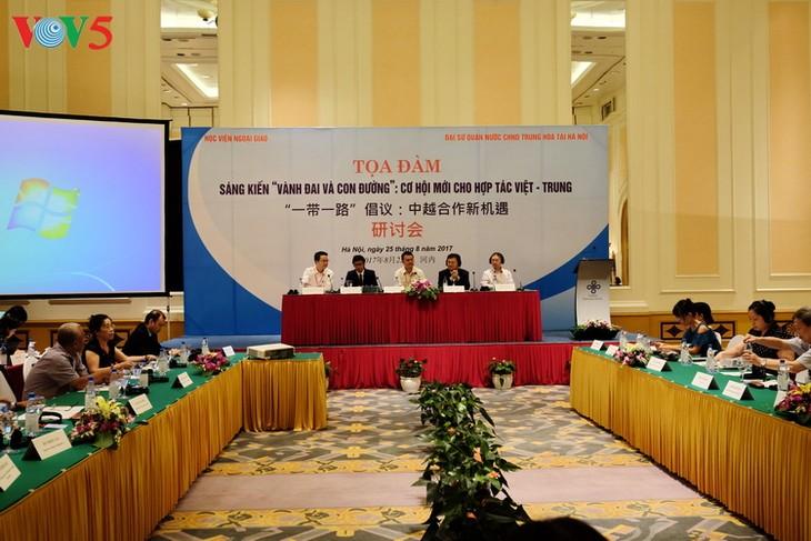 """Sarasehan """"Gagasan Sabuk dan Jalan: Kesempatan baru bagi kerjasama Vietnam-Tiongkok"""" - ảnh 1"""