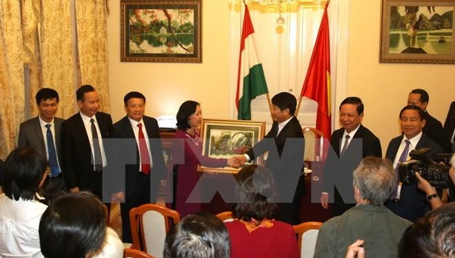 Memperkuat hubungan antara Partai Komunis Vietnam dan Partai Sosialis Hungaria - ảnh 1